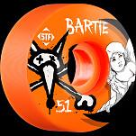 BONES WHEELS STF Pro Bartie Angel 51mm Orange Wheel 4pk