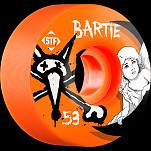 BONES WHEELS STF Pro Bartie Angel 53mm Orange Wheel 4pk