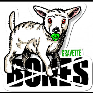 BONES WHEELS Pro Gravette Sticker Single