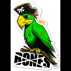 BONES WHEELS Bartie Parrot Sticker Single