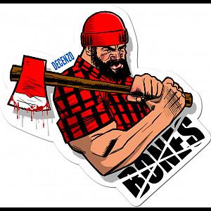 BONES WHEELS Decenzo Brawney Sticker Single