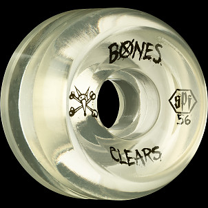 BONES WHEELS Clear SPF 56mm 4pk