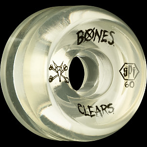 BONES WHEELS SPF Clear 60mm 4pk