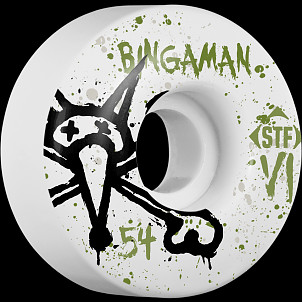 BONES WHEELS STF Pro Bingaman Team Vato Op 54mm Wheels 4pk