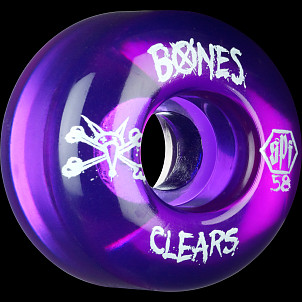 BONES WHEELS Clear Purple SPF 58mm 4pk