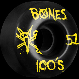 BONES WHEELS 100's 51mm Black(4pack)