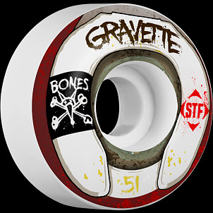 BONES WHEELS STF Pro Gravette Wasted Life 51mm 4pk