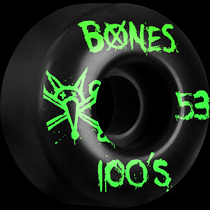BONES WHEELS 100's 53mm Black(4pack)