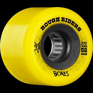 BONES WHEELS Rough Rider 56mm Yellow Wheel 4pk