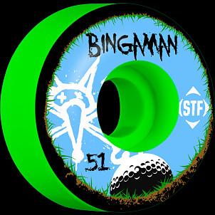BONES WHEELS STF Pro Bingaman Bogey 51mm Green Wheel 4pk