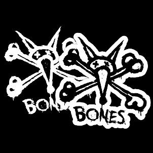 "BONES WHEELS Vato Stacked 2"" single sticker"