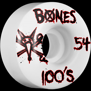 BONES WHEELS 100's 54mm (4pack)