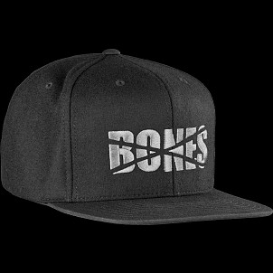 "BONES WHEELS Wool Felt ""D"" Cap"