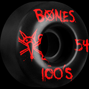 BONES WHEELS 100's 54mm Black(4pack)