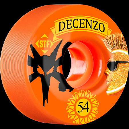 BONES WHEELS STF Pro Decenzo Shock 54mm wheels 4pk Orange