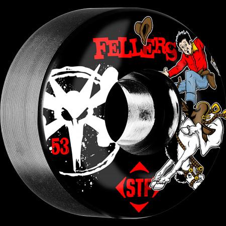 BONES WHEELS STF Pro Fellers Bronco 53mm wheels 4pk Black