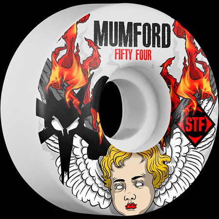 BONES WHEELS STF Pro Mumford Angel 54mm wheels 4pk