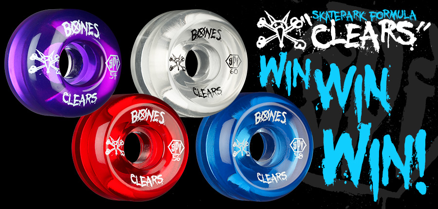 WIN A SET OF OUR NEW SKATEPARK FORMULA &quote;CLEARS&quote;